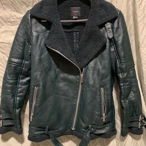 Forever21 Green Leather Jacket